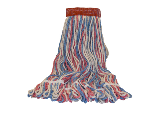 Antimicrobial RED,WHITE & BLUE Looped End Wet Mops